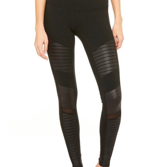67aa6fef06e478 ALO Yoga Pants   Moto Legging Black Size Small   Poshmark